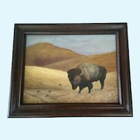 Larry L. Bell (1932-2014) Buffalo Landscape Acrylic Painting