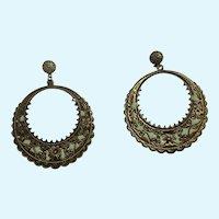 Bollywood Style Looped Pierced Ears Stud Post Earrings Costume Jewelry