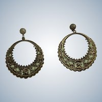 Bollywood Style Looped Pierced Ears Stud Post Earrings Costume Jewelry