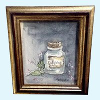 Patricia Murphy, Miniature Still Life Watercolor Painting