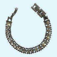 Stella & Dot Sparkling White Rhinestone Crystals on Silver-Tone  Gorgeous Bracelet