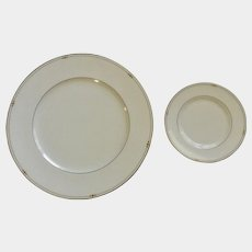 Royal Doulton Precious Gold Dinner Plate & Bread & Butter Plate Discontinued (2006-2008)