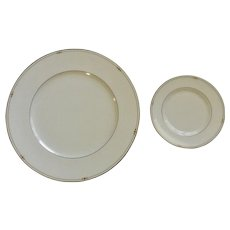 Royal Doulton Precious Gold Dinner Plate, Bread & Butter Plate Discontinued (2006-2008)