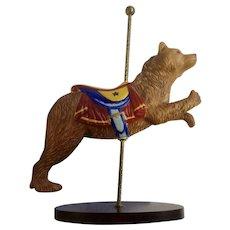 Franklin Mint Limited Treasury of Carousel Art #2 Bear Animal Porcelain Figurine 1989