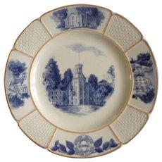Wedgwood & Barlaston Wheaton College Blanchard Hall Illinois Plate England
