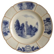 Wedgwood & Barlaston Wheaton College Blanchard Hall Illinois Plate England