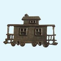 Railroad RR Caboose Train Car Pewter Brooch Pin