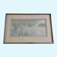 Albert Lagunero, Kamakura Landscape Watercolor Painting