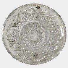 Bohemian Lead Crystal over 24% PbO Glass Fruit Bowl with Brunswick star Bottom Czech Republic