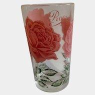 Boscul Peanut Butter Glass Tumbler Pink Rose Flowers