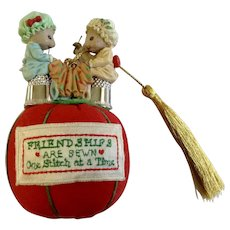 You're Sew Special, Best Friends, Friendships Are Sewn, Pin Cushion Enesco 1990 Mice Christmas Tree Ornament