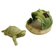 Turtle Franklin Mint Woodland Surprises Series Porcelain 1984 Jacqueline B Smith Wild Animal 2 Piece Set