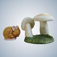 Mouse Franklin Mint Woodland Surprises Series Porcelain 1984 Jacqueline B Smith Wild Animal 2 Piece Set