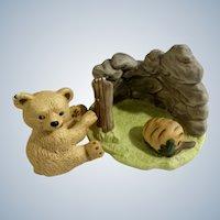 Bear Franklin Mint Woodland Surprises Series Porcelain 1984 Jacqueline B Smith Wild Animal 2 Piece Set