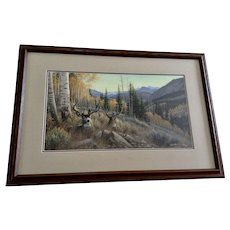 Michael Sieve Indian Summer Mule Deer Limited Edition Print Signed by Artist COA