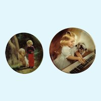 Donald Zolan Miniature Children Plates, Forest Friends & Song for Two