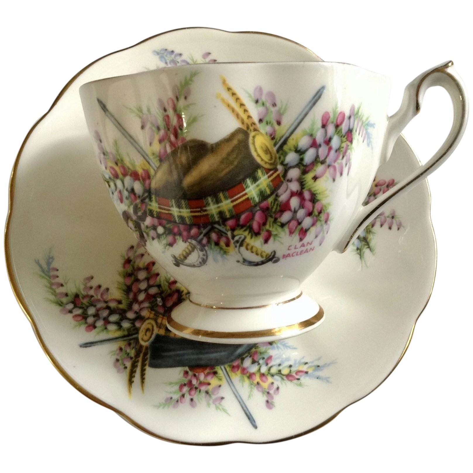 Glengarrys Queen Anne Footed Cup And Saucer England Gumgumfuninthesun Ruby Lane