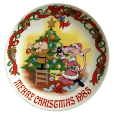 Pink Panther Pass The Blast Merry Christmas 1985 Collectors Plate Royal Orleans Limited Edition