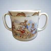 Bunnykins Royal Doulton Tableware Bunnies at the Beach Seaside 2 Handled Hug a Mug Albion Shape England