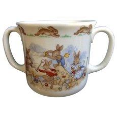 Bunnykins Royal Doulton Tableware 1936 Bunnies at the Beach Seaside 2 Handled Hug a Mug Albion Shape England
