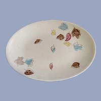 Mid-Century Falling Leaves Royal (USA) China Serving Platter Discontinued 1957