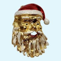 Christmas Santa Claus Gerry's Gold-tone Enamel Painted Pin