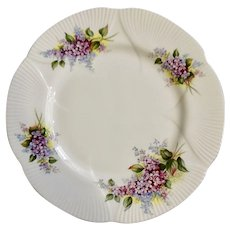 Salad Plate Blossom Time Series Lilac Royal Albert Scalloped Edges 8-1/4 Inches
