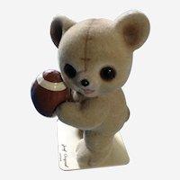 Josef Originals Fuzzy Wazzy Football Bear Figurine George Good