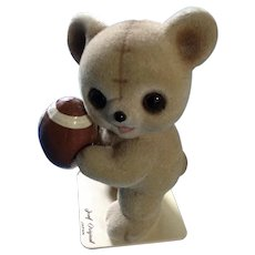 Josef Originals Fuzzy Wazzy Football Bear Figurine George Good