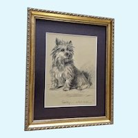 1930's-1940's Lucy Dawson, Cairn Terrier Book Print Dogs Rough And Smooth