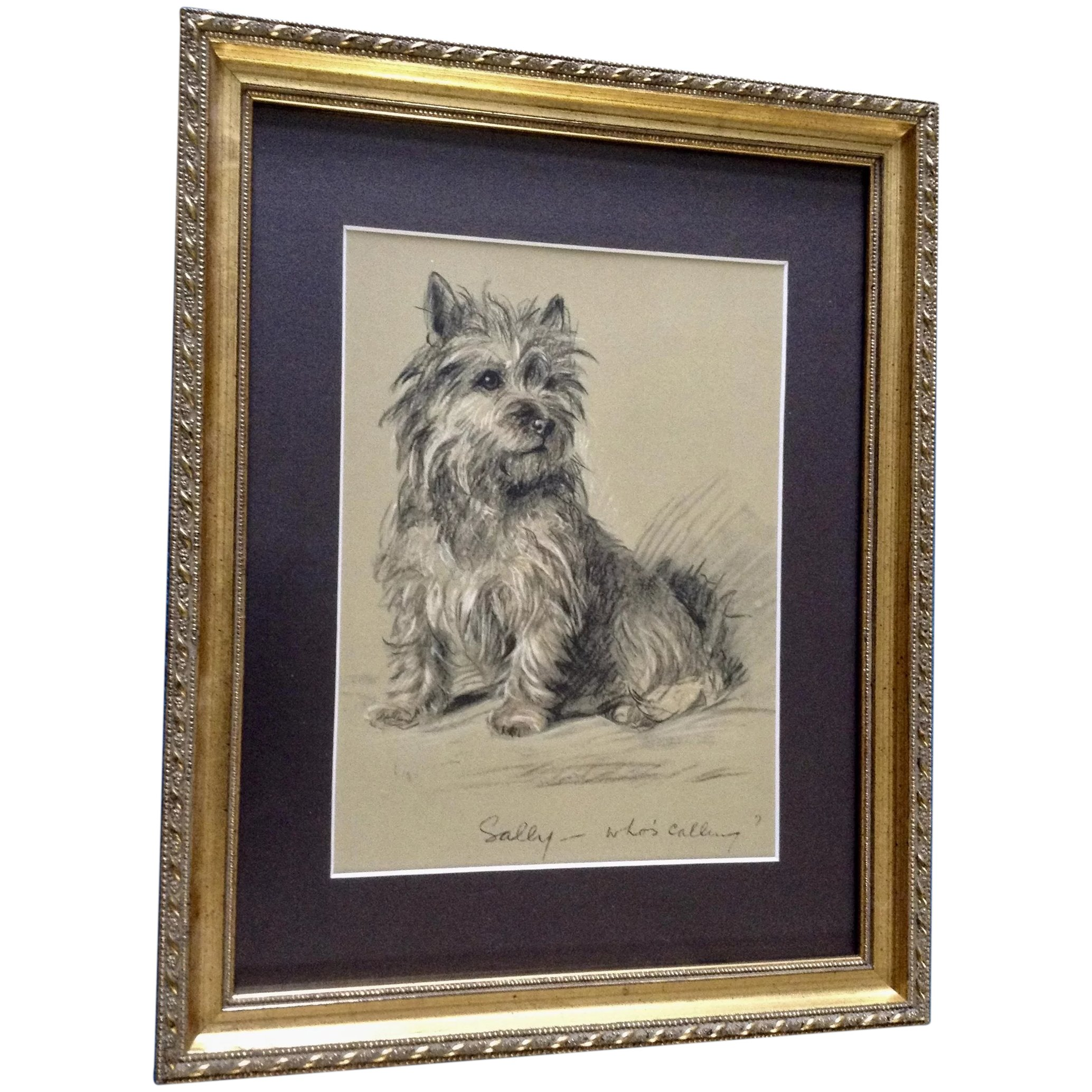 1930 S 1940 S Lucy Dawson Cairn Terrier Named Sally Framed Print From Gumgumfuninthesun Ruby Lane
