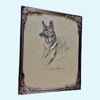 1930's-1940's Lucy Dawson, German Shepherd Book Print Dogs Rough And Smooth