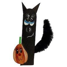 Black Cat and Pumpkin Brooch Pin