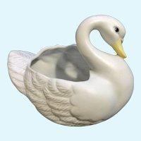 White Swan Planter Vase Homco Porcelain Figurine #1402