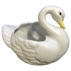 Swan Planter Porcelain Pottery Ruby Lane