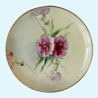 Vintage Pink Floral Appetizer or Dessert Plate Haviland France White's Art Co.