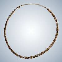Faux Diamond Rhinestone Gold-Tone Chain Necklace Avon Costume Jewelry 19""