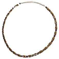 "Faux Diamond Rhinestone Gold-Tone Chain Necklace Avon Costume Jewelry 19"""