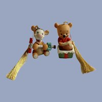 Winnie the Pooh and Tigger Ceramic Christmas Tree Ornaments Disney Characters