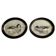 Pair of Canadian Geese Original Watercolor Paintings