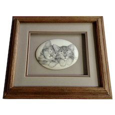 Virginia Miller, Sleeping Kittens Snowball Kitty Cats Print from Something Different Oak Art California
