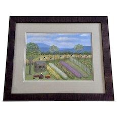 Martha Stevenson Kate's Garden at Taylor Farm Folk Art Limited Edition Print Signed