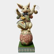 Jim Shore Easter Bunny So Funny Figurine Holding Egg Garland #4020609 Retired Heartwood Creek