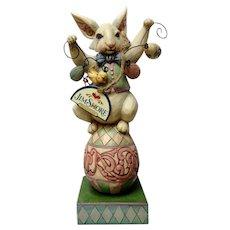 Jim Shore Easter Bunny So Funny Figurine Holding Egg Garland #4020609 Retired Heartwood Creek