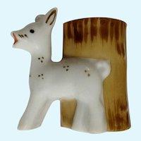 White Deer Toothpick Holder Porcelain Made in Occupied Japan