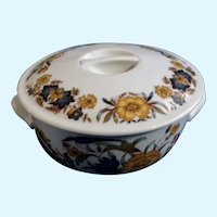 Large Game Pie Casserole Round Covered Dish Pillivuyt France Porcelain