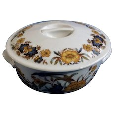 Pillivuyt France Porcelain Large Game Pie Casserole Round Covered Dish Decor Grand Feu Garanti Inalterable Solair Size 6