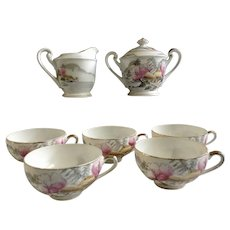 Vintage Geisha Girl Asian Bowls and Saucers : Ruth's
