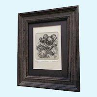 Marsha K Howe, Koala Bears Numbered Limited Edition Etching Print 12/50