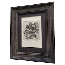 Marsha K Howe, Koala Bears Numbered Limited Edition Etching Print 12/50 Signed by Listed Artist